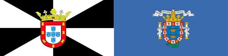 Banderas Ceuta y Melilla