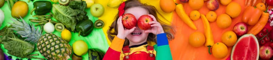 frutas y verduras por colores